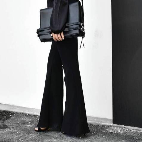 0x8fcr-l-610x610-pants-tumblr-black+pants-flare+pants-bag-black+bag-sandals-black+sandals-black