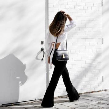 9tm2ng-l-610x610-pants-tumblr-black+pants-flare+pants-shirt-white+shirt-open-backless-backless-bag-black+bag-shoulder+bag-black+white