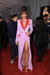 Andra Day in custom Victoria Hayes and Christian Louboutin shoes