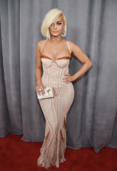 Bebe Rexha in La Perla, Lorraine Schwartz jewelry and Casadei shoes