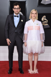 Jack Antonoff and Rachel Antonoff in Prada