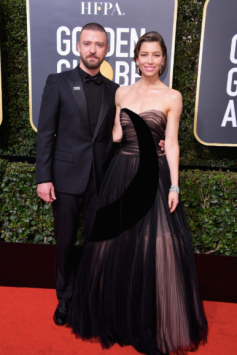 Justin Timberlake in Dior Homme and Jessica Biel in Dior Haute Couture