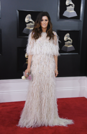 Karen Fairchild with a Judith Leiber Couture bag