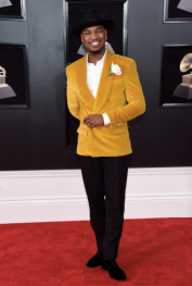 Ne-Yo in Grayscale and Christian Louboutin shoes