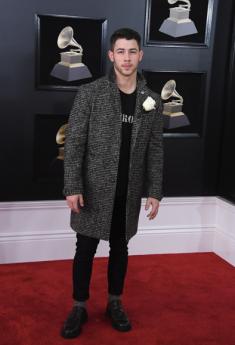 Nick Jonas in John Varvatos