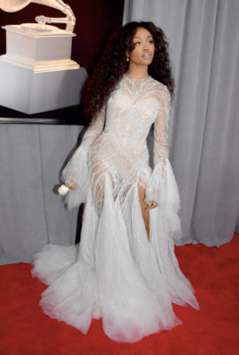 Sza in Atelier Versace and Chopard jewelry