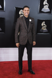 Trevor Noah in Dolce & Gabbana and Christian Louboutin shoes