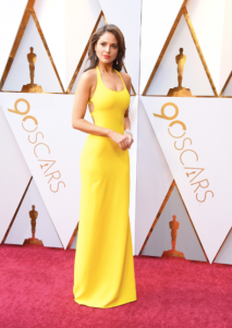 Eiza Gonzalez in Ralph Lauren, Chopard jewelry and Brian Atwood shoes