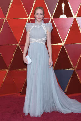 Emily Blunt in Schiaparelli Haute Couture with Chopard jewelry