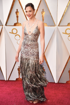 Gal Gadot in Givenchy and Tiffany & Co. jewelry