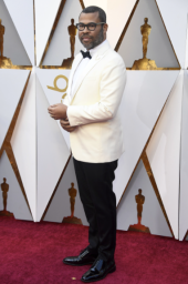 Jordan Peele in Calvin Klein and Jimmy Choo shoes