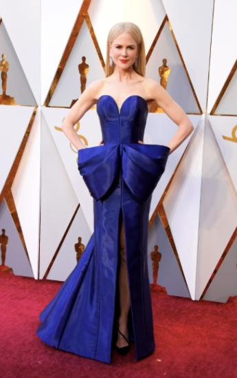 Nicole Kidman in Armani Privé, Harry Winston jewelry and Christian Louboutin shoes