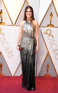 Sandra Bullock in Louis Vuitton and Zac Posen