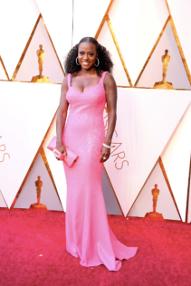 Viola Davis in Michael Kors Collection and with a Roger Vivier bag