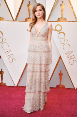 Zoey Deutch in Elie Saab Couture and Tiffany & Co. jewelry