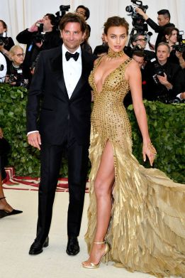 Bradley Cooper in Tom Ford and Irina Shayk