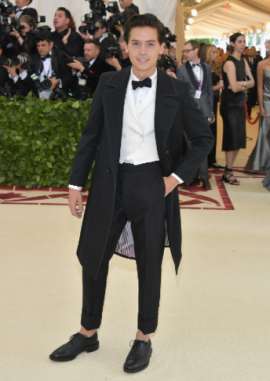 Cole Sprouse in Thom Browne