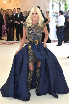 Donatella Versace in Versace