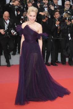 Emilia Clarke in custom Dior