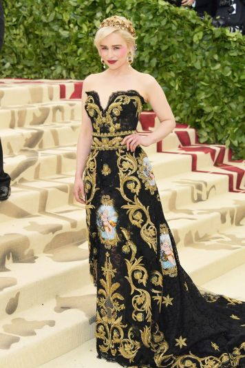 Emilia Clarke in Dolce & Gabbana Alta Moda