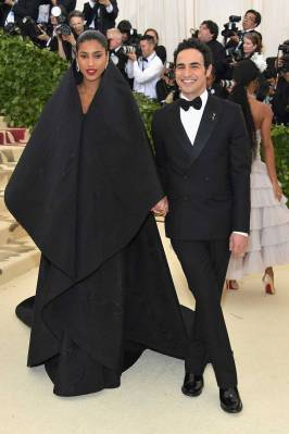 Imaan Hammam and Zac Posen