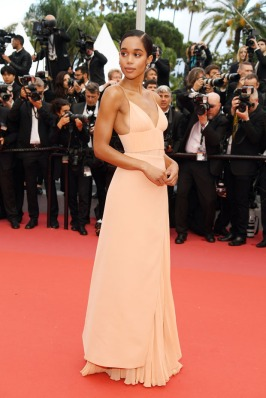 """CANNES, FRANCE - MAY 14: Actress Laura Harrier attends the screening of """"Blackkklansman"""" during the 71st annual Cannes Film Festival at Palais des Festivals on May 14, 2018 in Cannes, France. (Photo by Pascal Le Segretain/Getty Images)"""