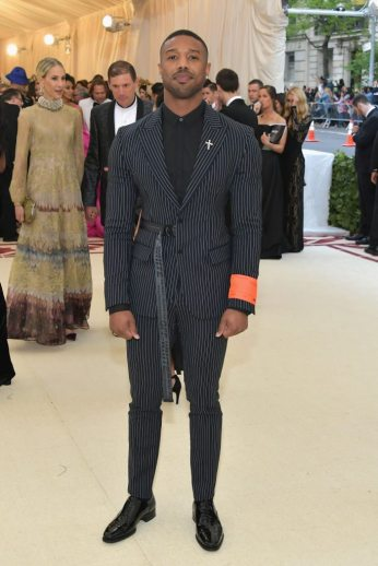 Michael B. Jordan in Off-White