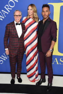 Tommy Hilfiger, Dee Ocleppo and Lewis Hamilton in Tommy Hilfiger