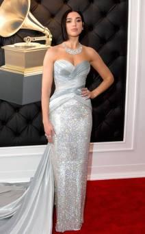 DUA LIPA In Versace and Bvlgari Jewelry