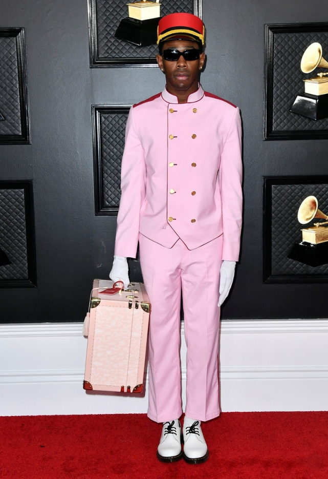 tyler-the-creator-pink-bellhop-outfit-grammys-2020-09